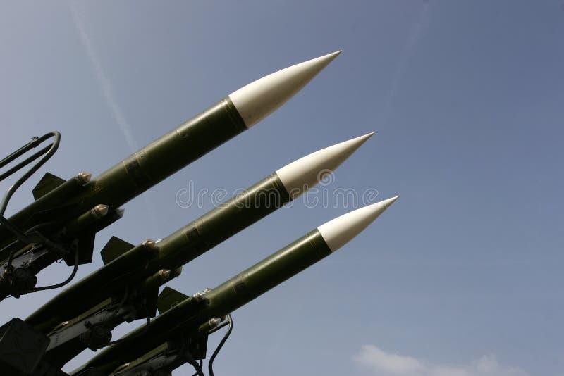 Missiles militaires photos libres de droits