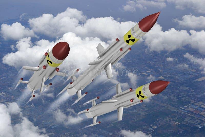 Missiles nucléaires illustration libre de droits