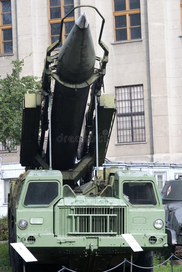 missillauncher för 9K72 Elbrus, Warszawa, Polen royaltyfri foto