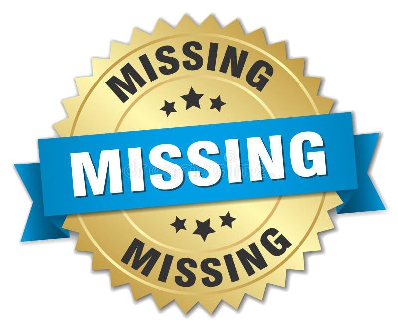 missing stock de ilustración