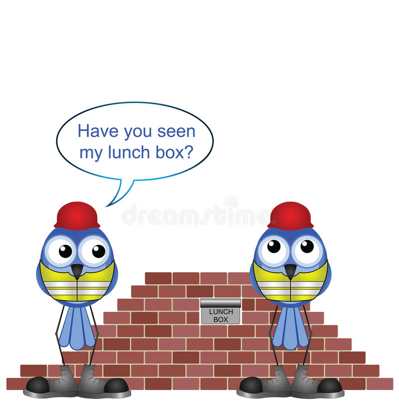 Download Missing lunch box stock vector. Image of hardhat, bird - 25819406