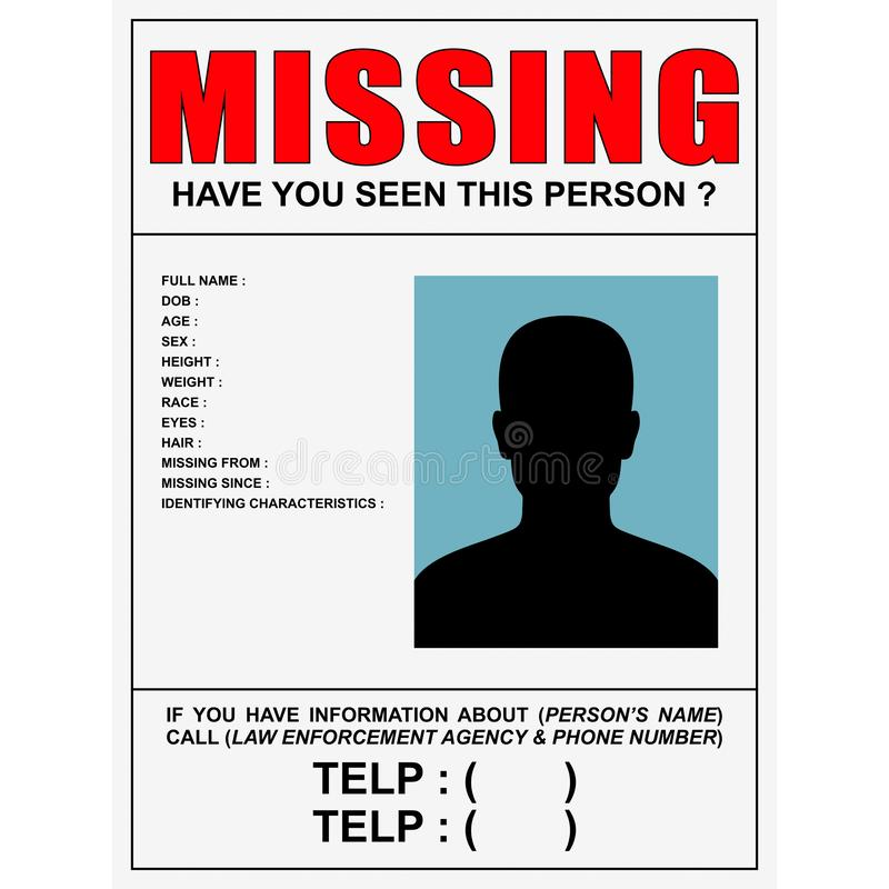Missing Person Poster Stock Illustrations 123 Missing Person Poster Stock Illustrations Vectors Clipart Dreamstime