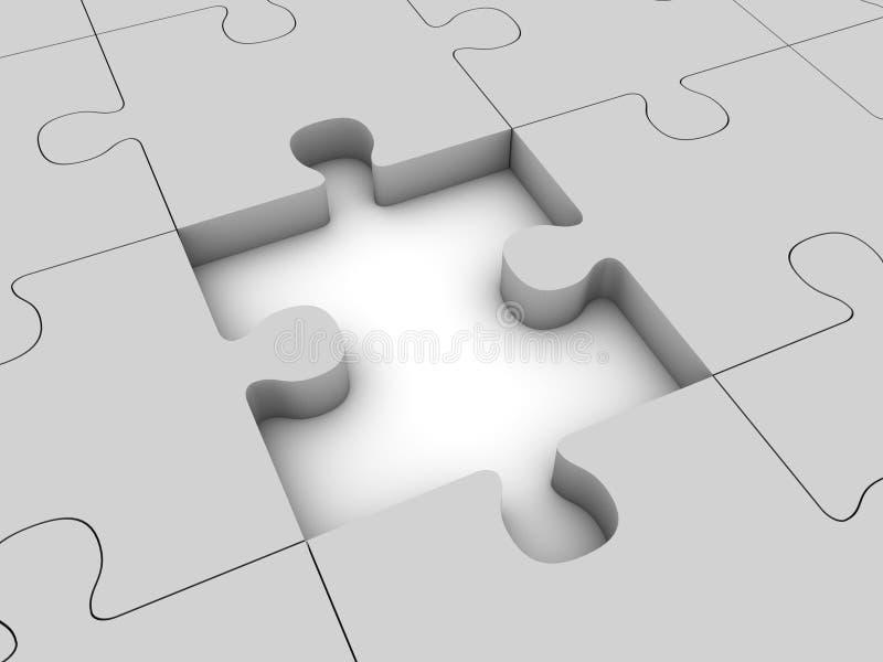 Download Missing piece stock illustration. Image of mark, lack - 21300398