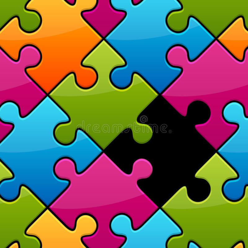Download Missing Piece stock vector. Image of orange, yellow, missing - 22824757