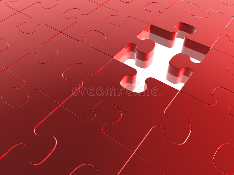 Missing Piece Royalty Free Stock Photography