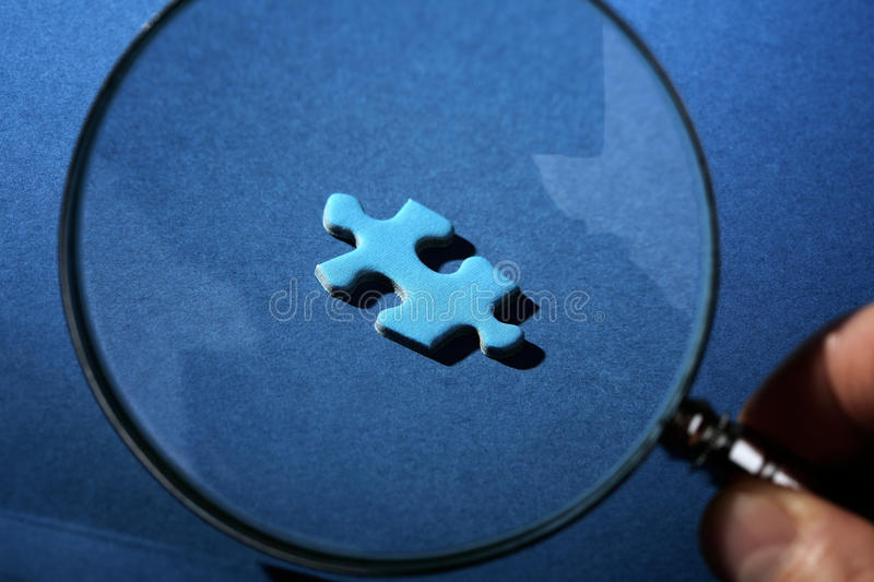 Missing piece of the puzzle royalty free stock photos