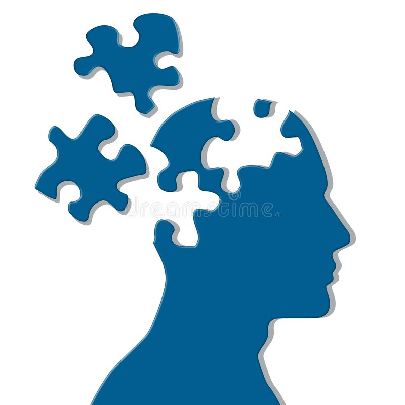 Missing Pieces Mental Puzzle stock images