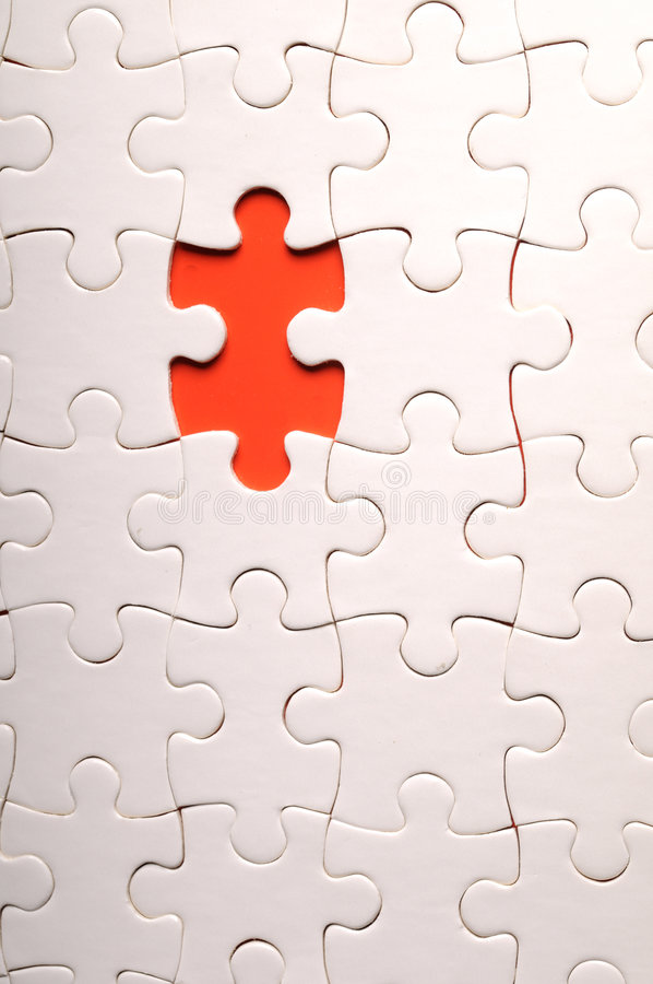 The missing pieces of the puzzle stock images