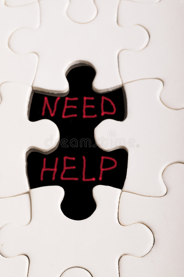 The missing pieces of the puzzle stock photo