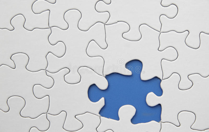 Missing puzzle piece royalty free stock photos