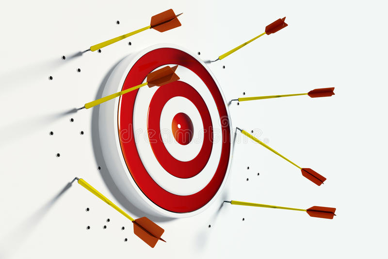 Missing the target vector illustration