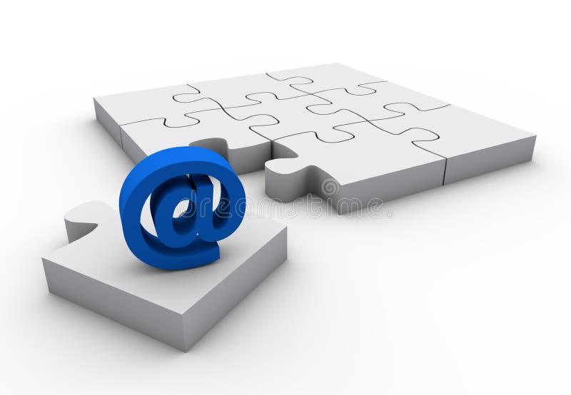 Missing technology. E-mail sign white background concept design vector illustration