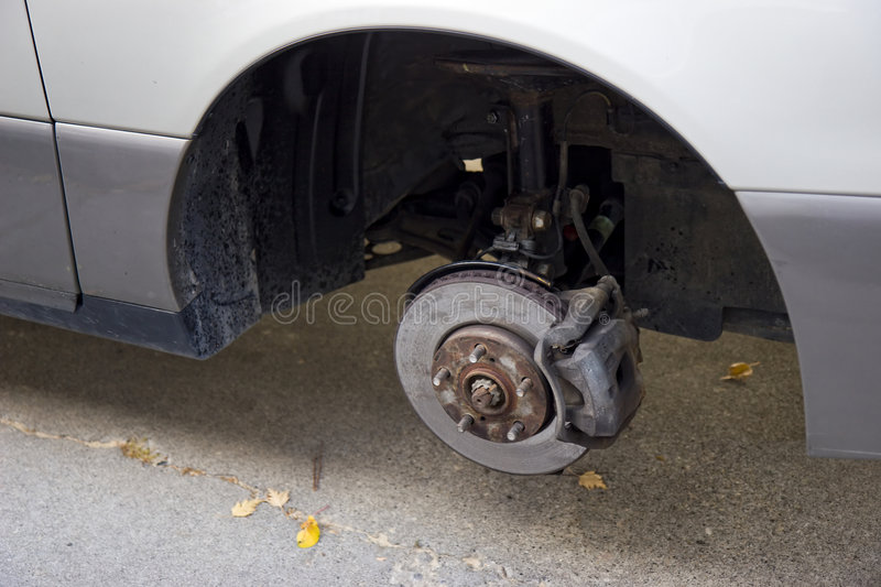 Download Missing tire stock image. Image of silver, fall, driveway - 6847617