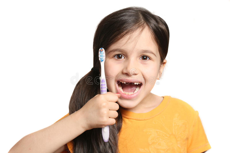 Missing two front teeth stock image