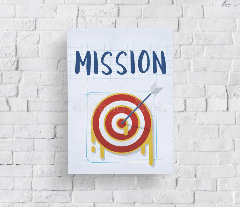 Mission Arrow Target Goals Business Dart Graphic Concept royalty free illustration