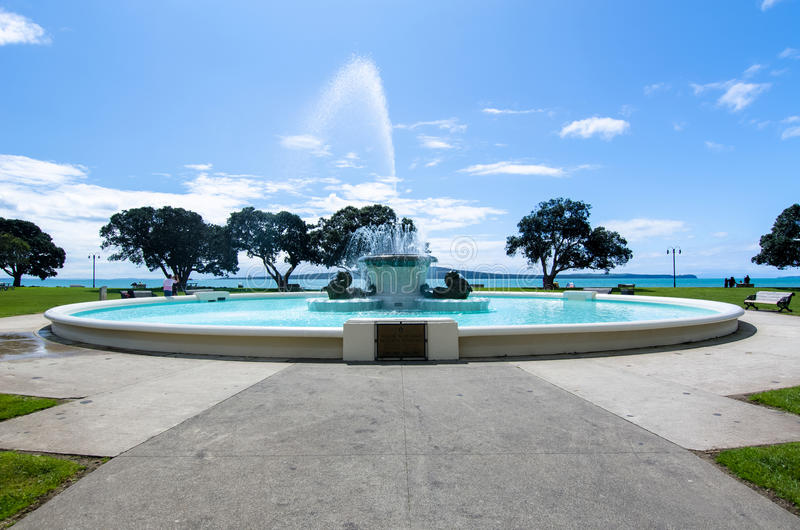 Mission Bay Fountain. Which is located at Auckland,New Zealand royalty free stock images