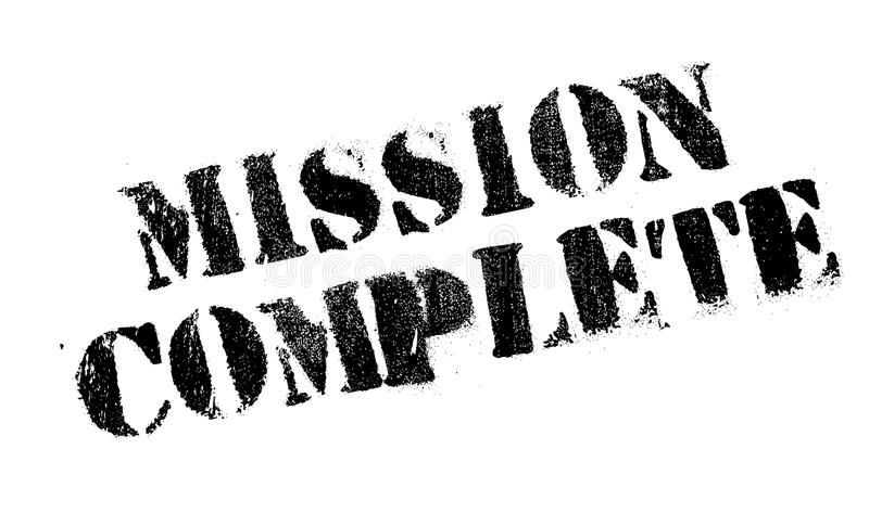 Mission Complete rubber stamp. Grunge design with dust scratches. Effects can be easily removed for a clean, crisp look. Color is easily changed royalty free illustration