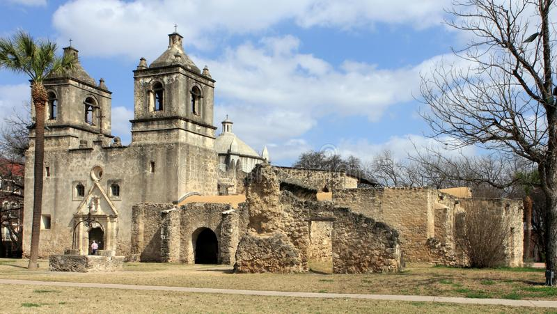 Mission Concepcion, San Antonio Missions National Historical Park. royalty free stock photography