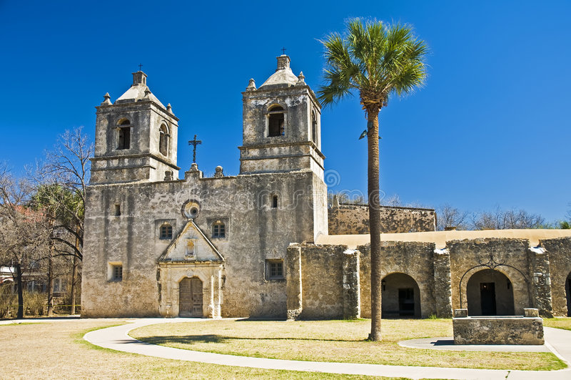 Mission Concepcion San Antonio Texas royalty free stock image
