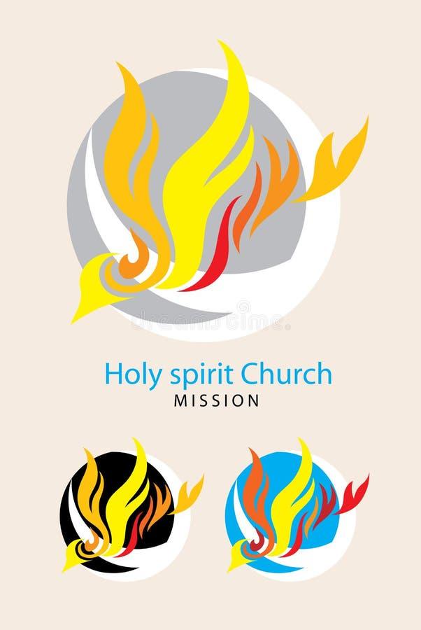 Mission d'église de Saint-Esprit illustration libre de droits