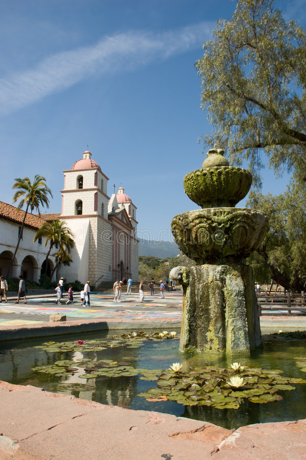 Mission de Santa Barbara photographie stock libre de droits