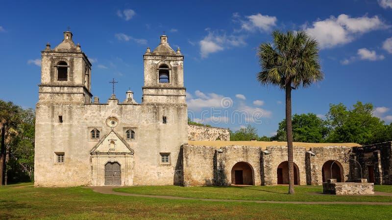Mission espagnole Concepcion à San Antonio, le Texas photo stock