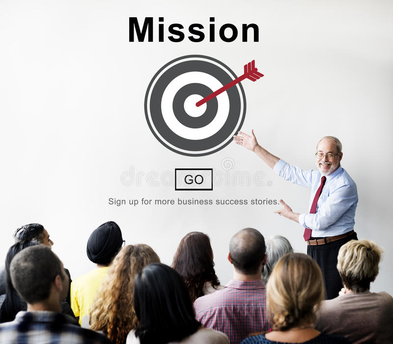Mission Goals Target Aspirations Motivation Strategy Concept royalty free stock photo