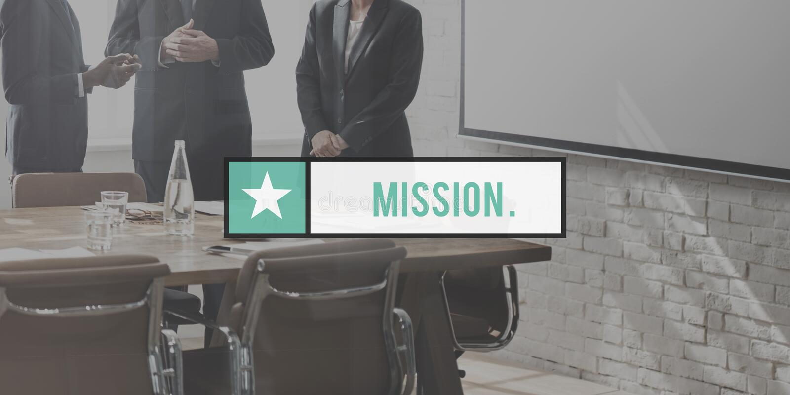 Mission Goals Target Aspirations Motivation Strategy Concept.  royalty free stock image