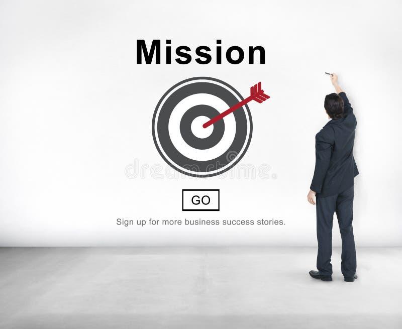Mission Goals Target Aspirations Motivation Strategy Concept. Mission Goals Target Aspirations Motivation Strategy stock photo