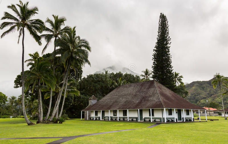 Mission Hall de Waioli Huiia dans Hanalei Kauai photos stock