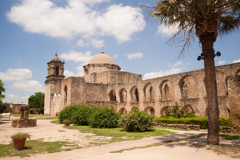 Mission historique San Jose San Antonio Texas d'architecture photographie stock
