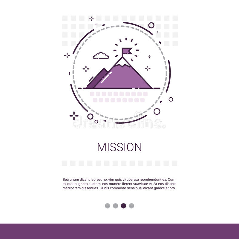 Mission Marketing Vision Business Targeting Web Banner With Copy Space royalty free illustration