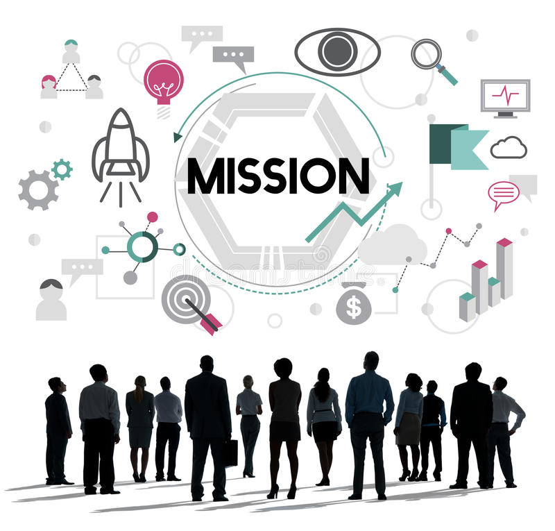 Mission Motivation Aim Target Vision Concept royalty free stock image