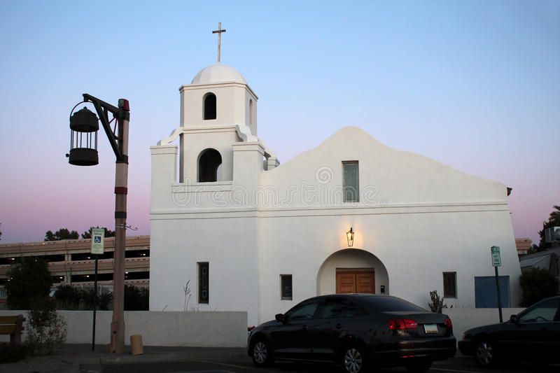 The Mission - Old Town Scottsdale. The Old Mission in historic Old Town Scottsdale, Arizona stock photo