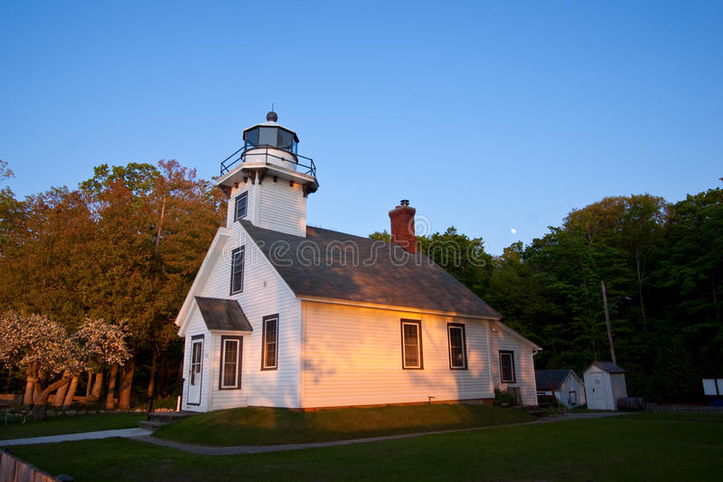 Mission Point Lighthouse, Michigan I stock photography