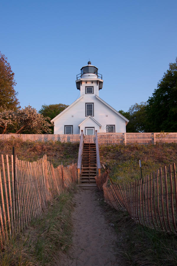 Mission Point Lighthouse, Michigan III stock image