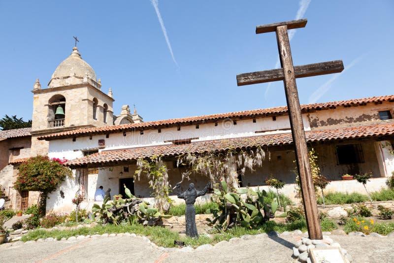 Mission San Carlos Borroméo del río Carmelo. The historic Mission San Carlos, the second mission in upper California stock images
