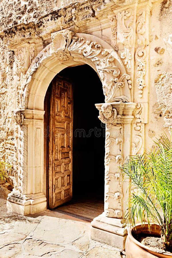 Download Mission San Jose stock image. Image of open, wall, door - 21586409