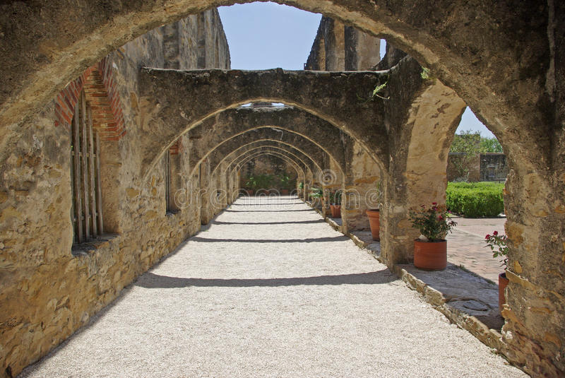 Mission San Jose Arches Stock Image