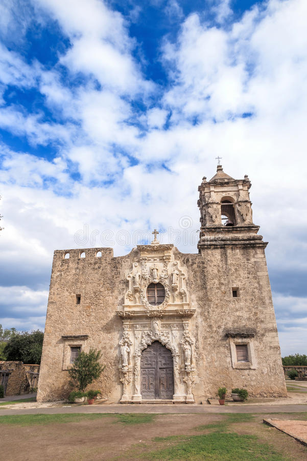Mission San Jose. Is a historic Catholic mission in San Antonio, Texas, USA stock photo