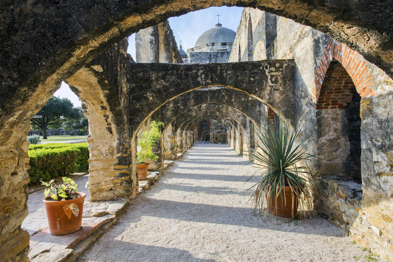 Mission San Jose, San Antonio, le Texas photos stock