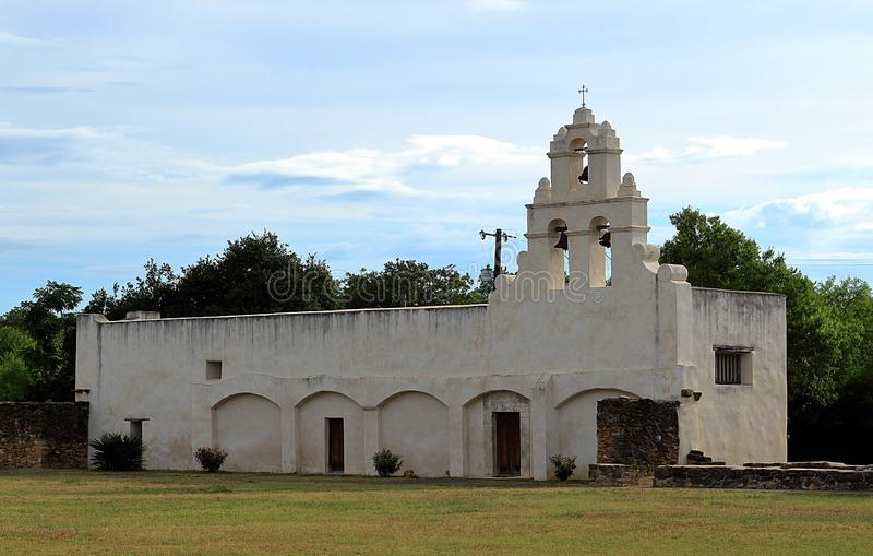 Mission San Juan in San Antonio Missions National Historic Park. Texas royalty free stock image