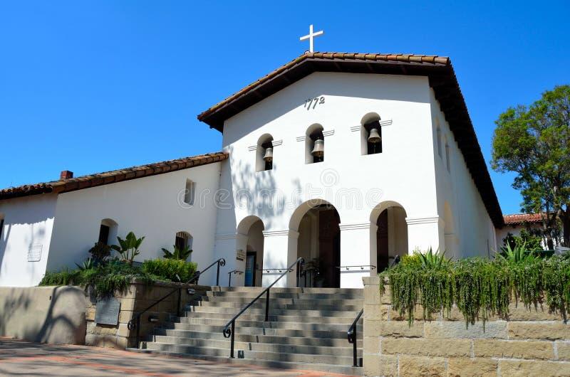 Mission San Luis Obispo de Tolosa. Old catholic mission in San Luis Obispo, California royalty free stock photos