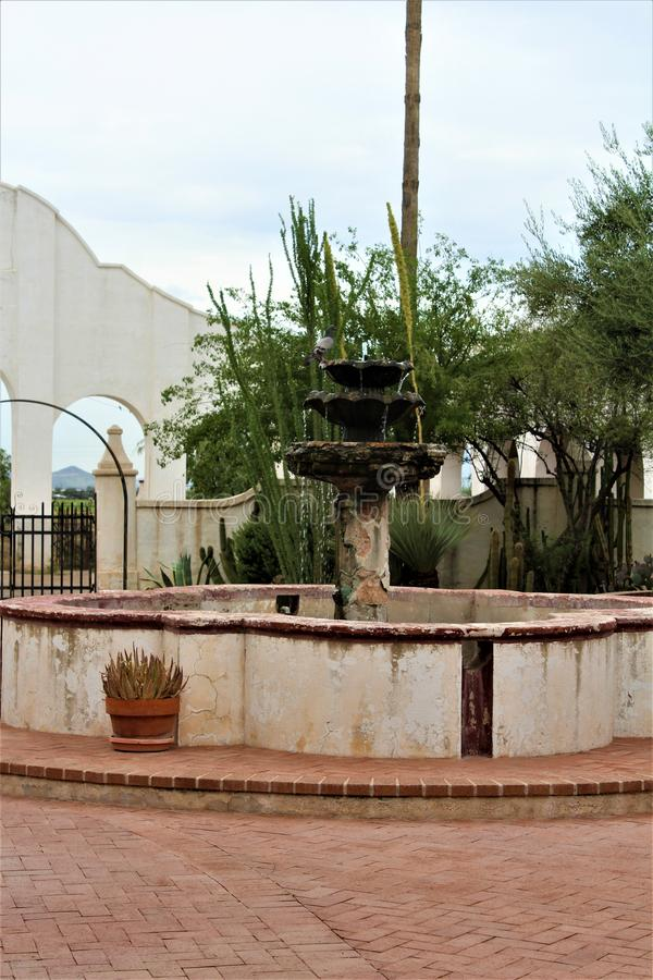 Mission San Xavier del Bac, Tucson, Arizona, Estados Unidos foto de stock