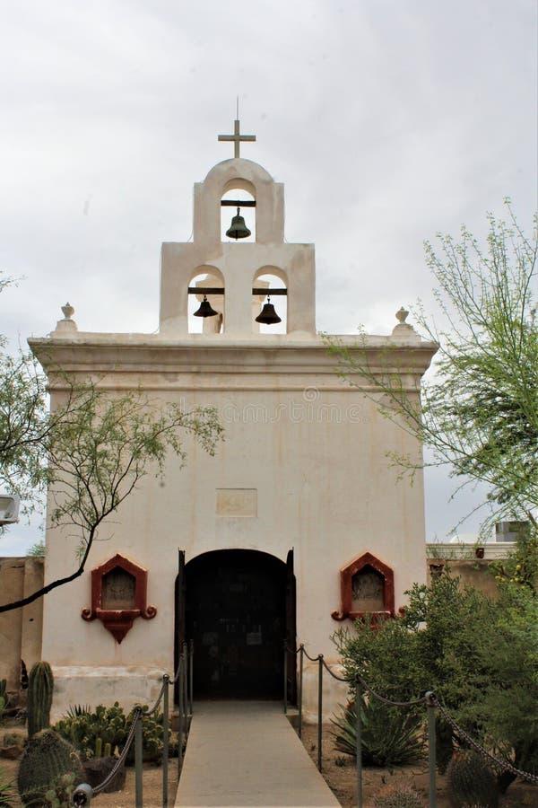 Mission San Xavier del Bac, Tucson, Arizona, Estados Unidos fotografia de stock