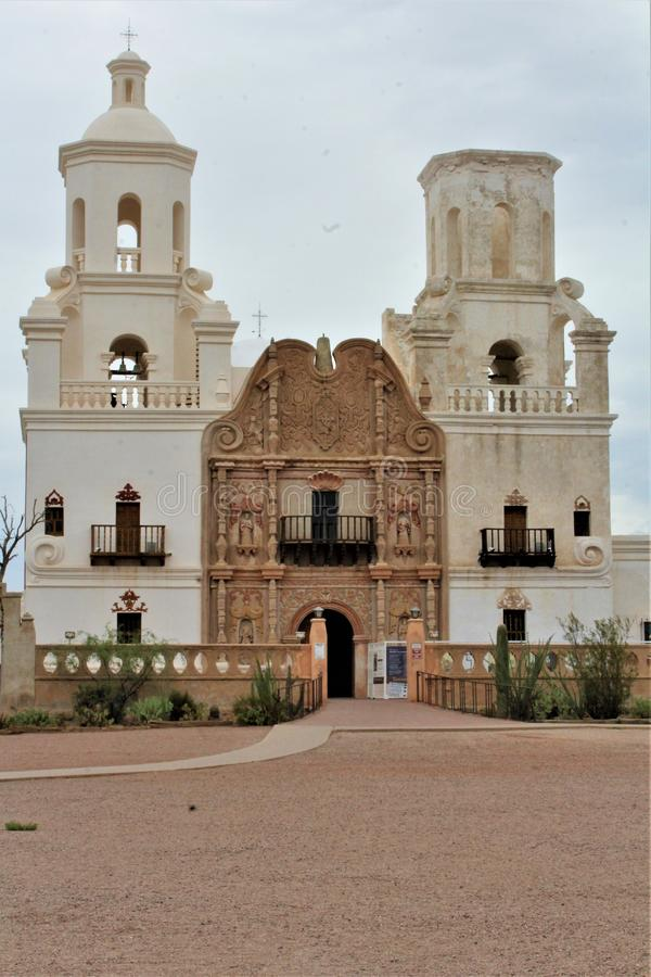 Mission San Xavier del Bac, Tucson, Arizona, Förenta staterna arkivbild