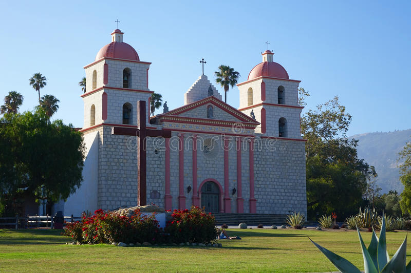 Mission Santa Barbara, la Californie photos libres de droits