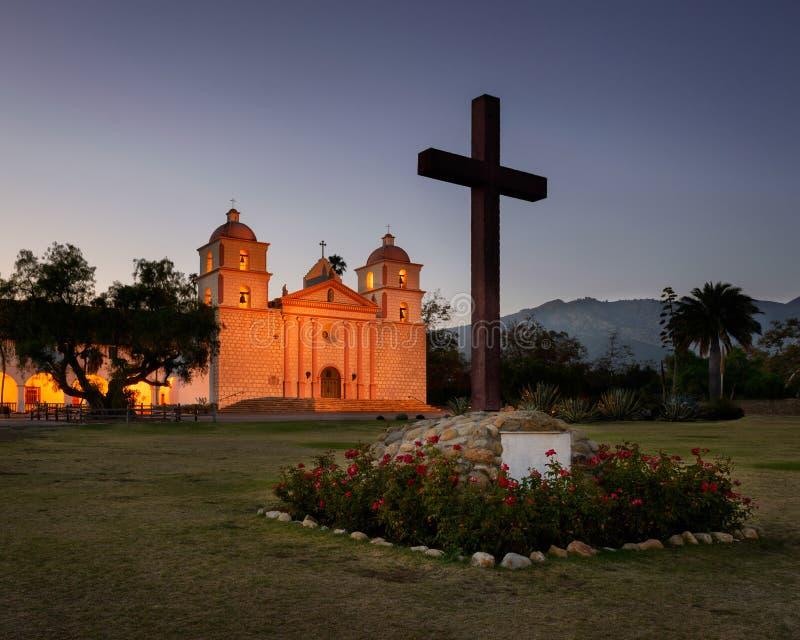 Mission Santa Barbara royalty free stock photography