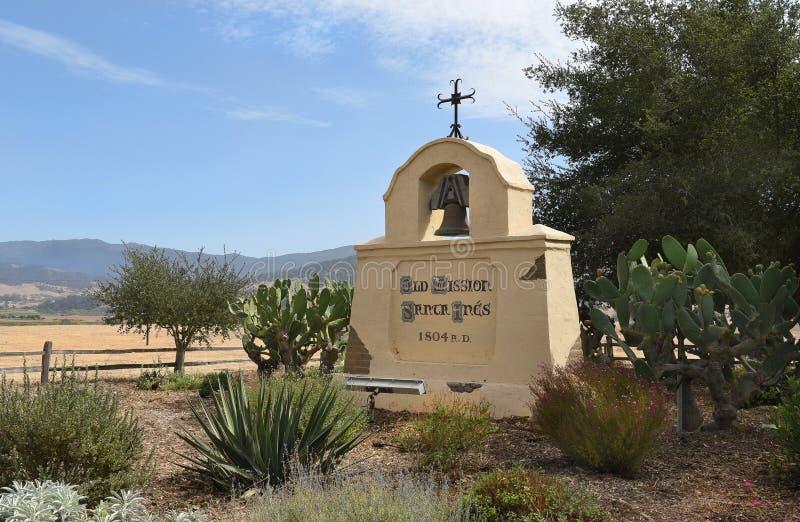 Mission Santa Ines Sign photographie stock libre de droits