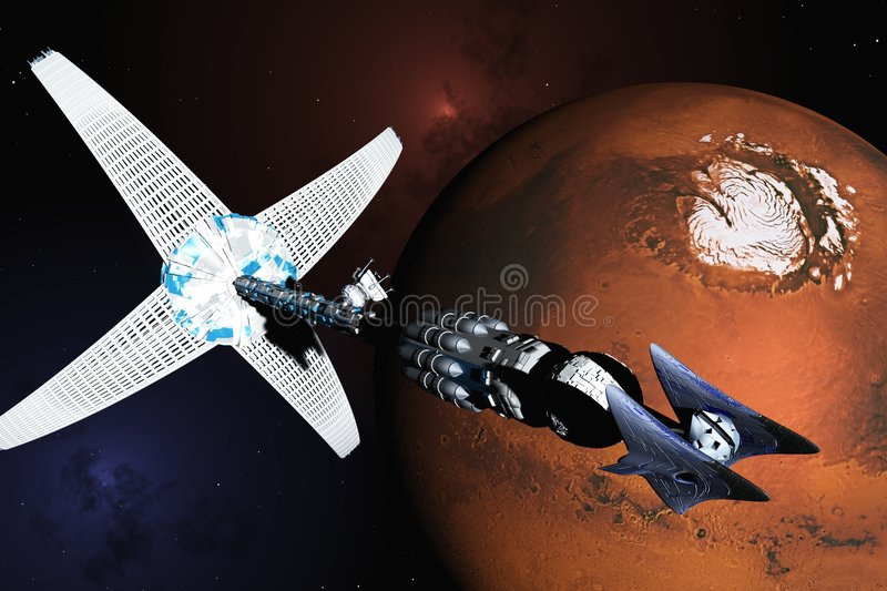 Mission to Mars royalty free illustration